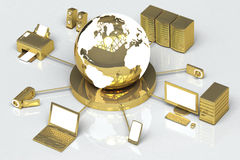 Ouro global dos media Foto de Stock Royalty Free