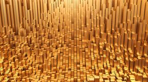 ouro Ilustração do fundo 3d do projeto do sumário do dinheiro Foto de Stock Royalty Free