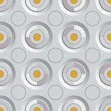 Ouro infinito da prata da quadriculação Foto de Stock
