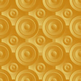 Ouro infinito da quadriculação Fotografia de Stock Royalty Free