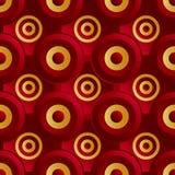 Ouro infinito do vermelho da quadriculação Imagens de Stock