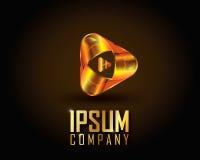 Ouro Logo Vetora Fotografia de Stock