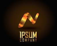 Ouro Logo Vetora Fotografia de Stock Royalty Free