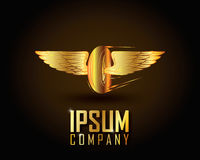 Ouro Logo Vetora Imagens de Stock Royalty Free