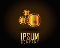 Ouro Logo Vetora Imagem de Stock Royalty Free