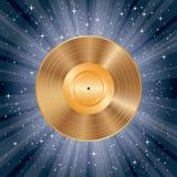 Ouro LP da explosão do azul Imagem de Stock Royalty Free