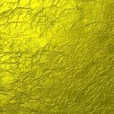 Ouro macio fundo amarrotado da textura Foto de Stock