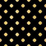 Ouro metálico na polca preta Dot Seamless Vetora ilustração royalty free