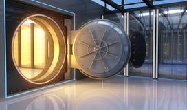 Ouro no banco Imagem de Stock Royalty Free