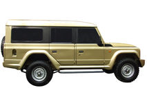 Ouro novo SUV metálico Imagens de Stock Royalty Free
