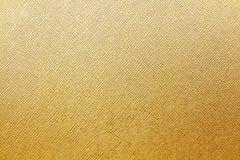 Ouro ou tampa do amarelo do fundo de couro do livro Fotografia de Stock Royalty Free