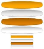 Ouro, prata, chapas de metal de bronze, bandeiras Distorção e norma ilustração do vetor