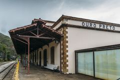 Rail station at Ouro Preto, Brazil royalty free stock images
