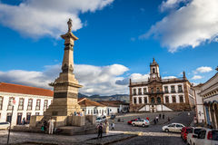 Ouro Preto, Brazil. December 2, 2014: Street scene of Teradentes Square The centre of The city with typical architecture ,UNESCO world heritage city center of stock photos