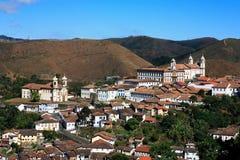 Ouro preto cityscape minas gerais brazil Stock Photos