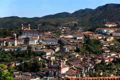 Ouro preto cityscape minas gerais brazil Stock Photography