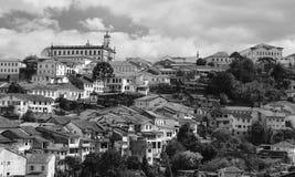 Ouro Preto - el Brasil - MG/se?ales/d?as de fiesta foto de archivo libre de regalías