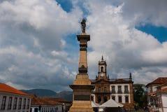 Ouro Preto, Minas Gerais, Βραζιλία: Το μουσείο Aleijadinho Τετράγωνο Tiradentes σε Ouro Preto, Βραζιλία στοκ εικόνα με δικαίωμα ελεύθερης χρήσης