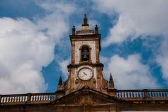 Ouro Preto, Minas Gerais, Βραζιλία: Το μουσείο Aleijadinho Τετράγωνο Tiradentes σε Ouro Preto, Βραζιλία στοκ εικόνες με δικαίωμα ελεύθερης χρήσης