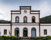 Rail station at Ouro Preto, Brazil. Ouro Preto, Minas Gerais, Brazil rail station constructed in 1883 to facilitate extraction of the region`s mineral wealth royalty free stock photo