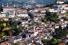 Ouro Preto w minas gerais Brazylia fotografia stock