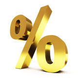 Ouro procent Foto de Stock