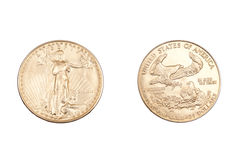 Ouro que coing Imagem de Stock Royalty Free
