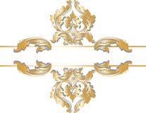 Ouro real clássico cartão ornamented Ilustração do Vetor