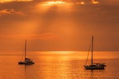 Ouro Sea&Sky Foto de Stock Royalty Free