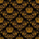 Ouro sem emenda novo da decoração Fotografia de Stock Royalty Free
