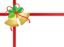 Ouro/sinos de Natal dourados Foto de Stock