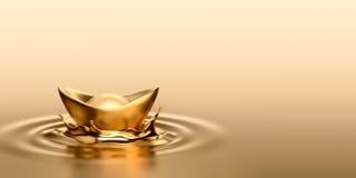 Ouro Sycee - Yuanbao Foto de Stock Royalty Free