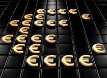 Ouro um o euro Imagem de Stock Royalty Free