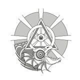 Ouroboros, δερματοστιξία δράκων ελεύθερη απεικόνιση δικαιώματος
