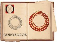 Ouroboros royalty-vrije illustratie