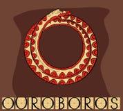 Ouroboros met titel stock illustratie