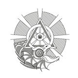 Ouroboros, tatouage de dragon illustration libre de droits