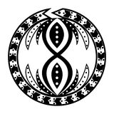 Ouroboros tattoo Royalty Free Stock Photos