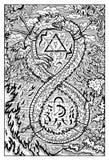 Ouroboros, uroboros, serpent or dragon eating its tail Stock Image