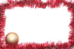 Ouropel vermelho de ano novo Foto de Stock Royalty Free
