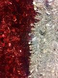 Ouropel vermelho e de prata Imagem de Stock Royalty Free