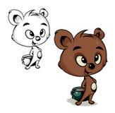 Ours avec du cacao Image stock