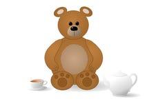 Ours avec du thé Photographie stock