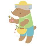 Ours avec l'abeille illustration stock