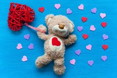 Ours avec un coeur Photos libres de droits