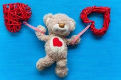 Ours avec un coeur Photo stock