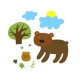 Ours avec un pot de miel Images stock