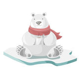Ours blanc avec du café Images libres de droits