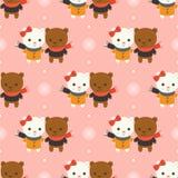 Ours blanc mignon, thème sans couture de modèle de Noël, pour l'usage comme wa illustration libre de droits
