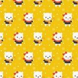 Ours blanc mignon, thème sans couture de modèle de Noël, pour l'usage comme wa illustration de vecteur
